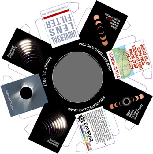 Universal Lens Filter - 90mm aperture BINOCULAR SET of TWO (2 each)