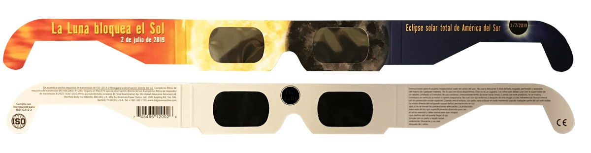Bulk pricing South America style 2019 Eclipse Solar Glasses