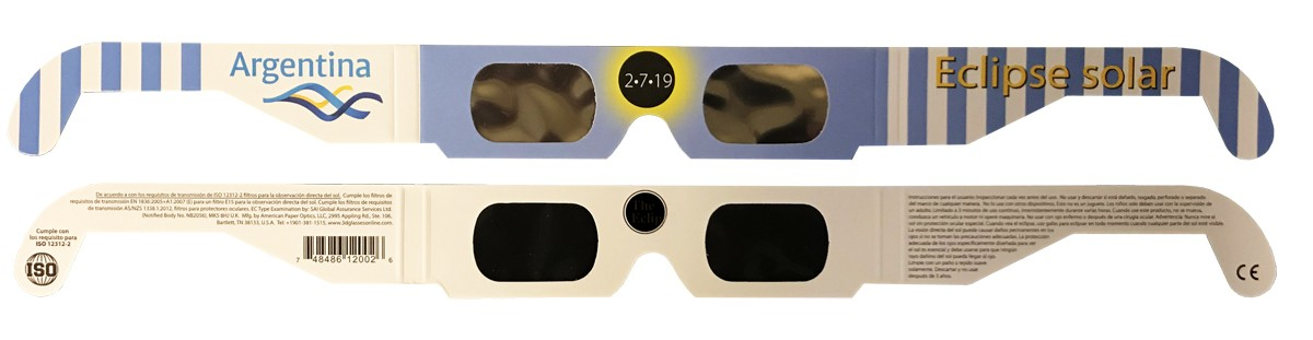 Bulk pricing ARGENTINA  style 2019 Eclipse Solar Glasses