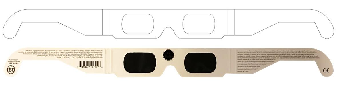 Bulk pricing CUSTOM PRINTED Eclipse Solar Glasses