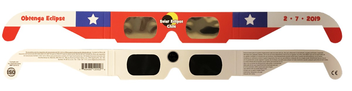 Bulk pricing CHILE style 2019/2020 Eclipse Solar Glasses